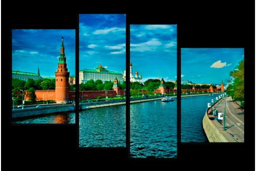 Модульная картина Кремль на Москве реке